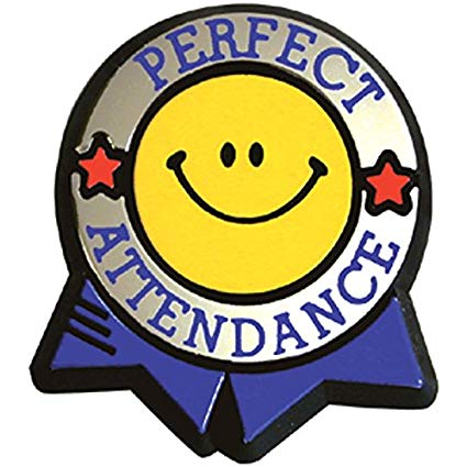 Amazon.com : Perfect Attendance Colorful Economy Pin (Set of.