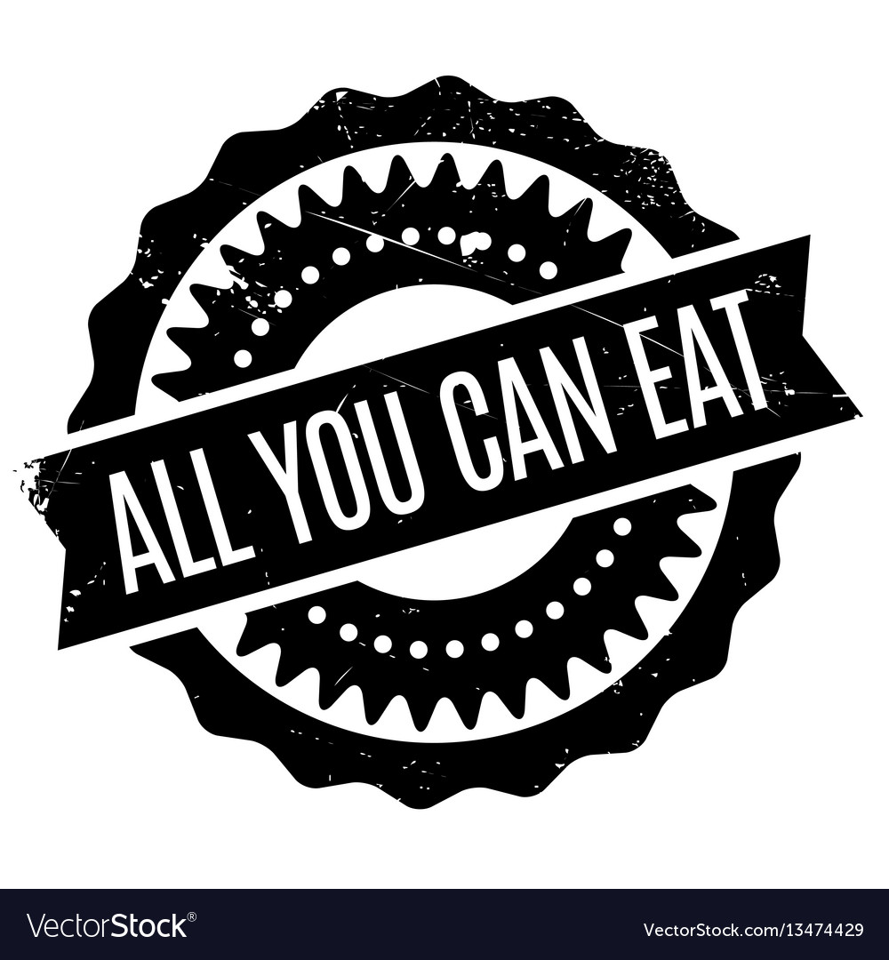 All you can eat rubber stamp.