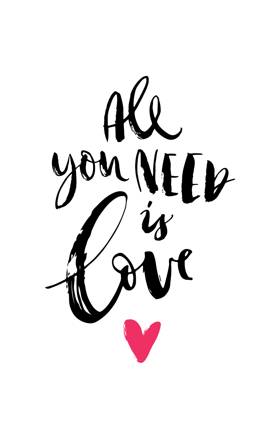 All You Need is Love Label.