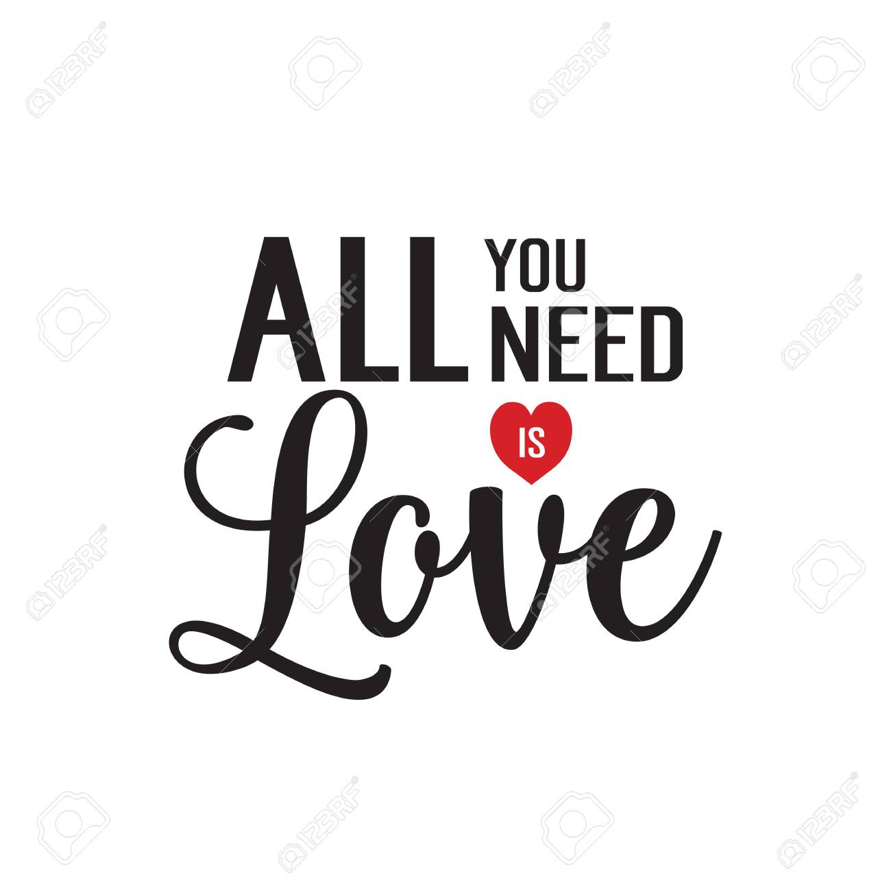 All you need is love lettering.
