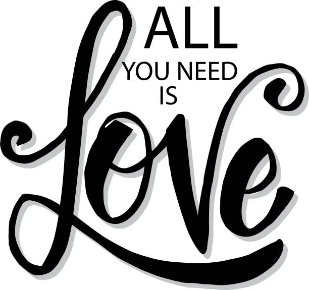 All You Need Is Love Quote Poster Background Illustrations, Royalty.
