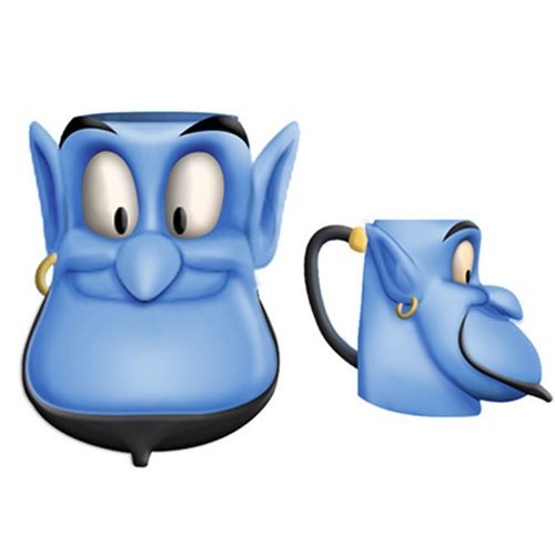 Disney Aladdin Genie Face Ceramic 3D Sculpted Mug.