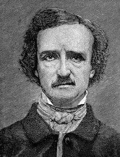 Edgar Allan Poe clip art.