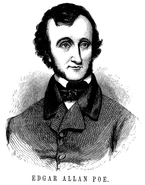 Edgar Allan Poe Clip Art Portrait.