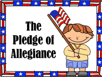 **FREEBIE** Pledge of Allegiance POST IT, READ IT, AND WRITE IT!.