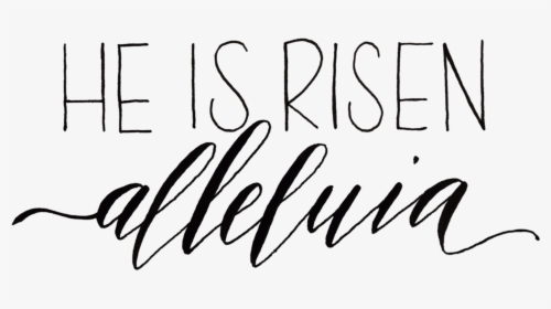He Is Risen Black And White Clipart & Clip Art Images.