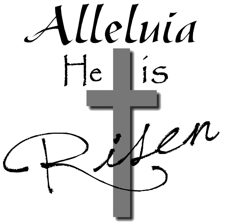 He Is Risen Black And White Png & Free He Is Risen Black And.