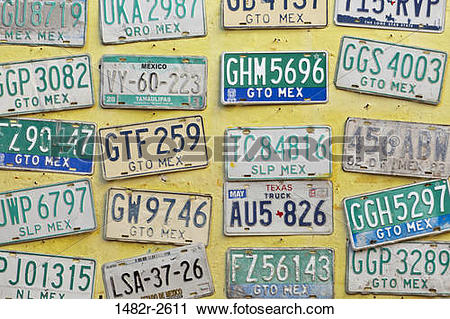 Stock Photography of Old license plates, San Miguel de Allende.