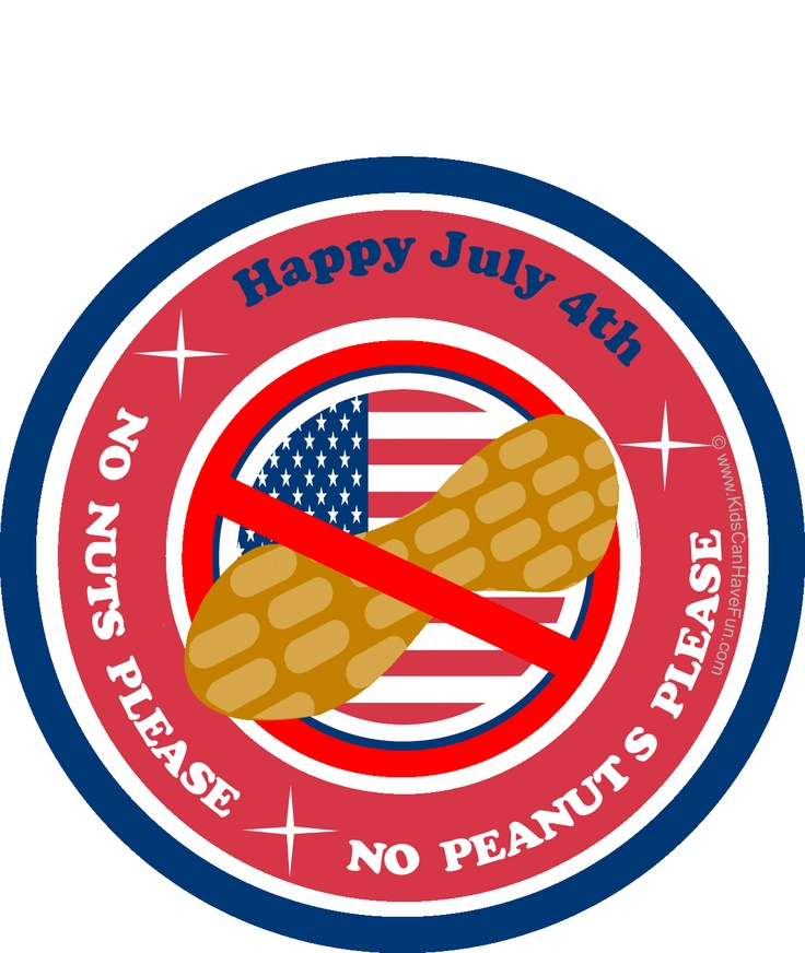 4th of July Nut Free Poster.