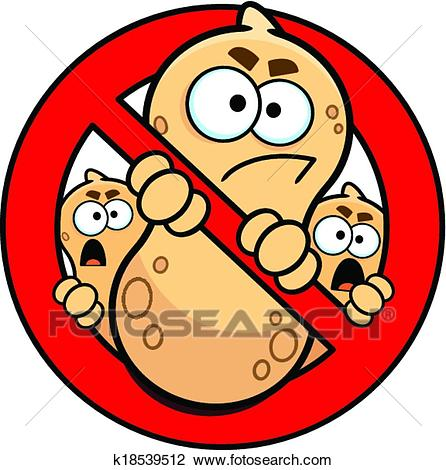 No Peanuts Allowed Allergy Sign Clipart.