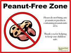 9 Best No Peanuts / Nuts Signs.