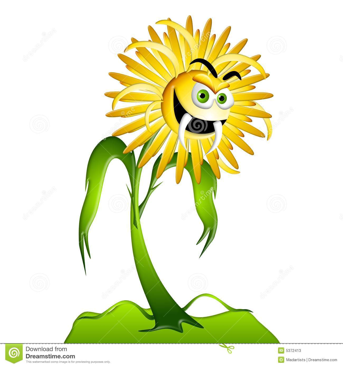 Dandelion Weed Allergy Monster 2 Stock Photos.
