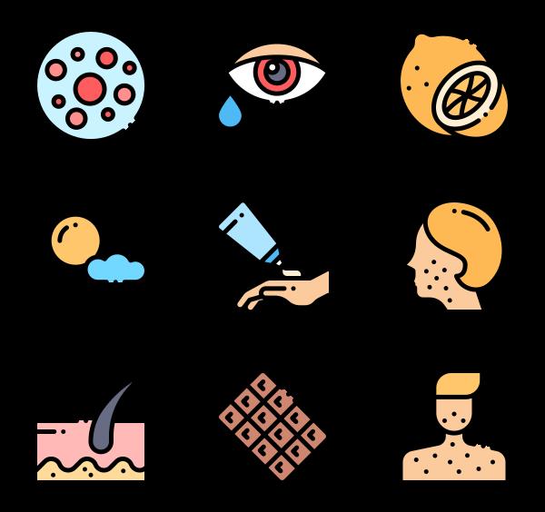 25 allergy icon packs.