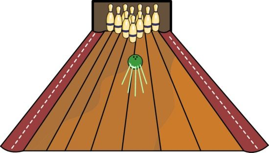 Bowling alley clip art.