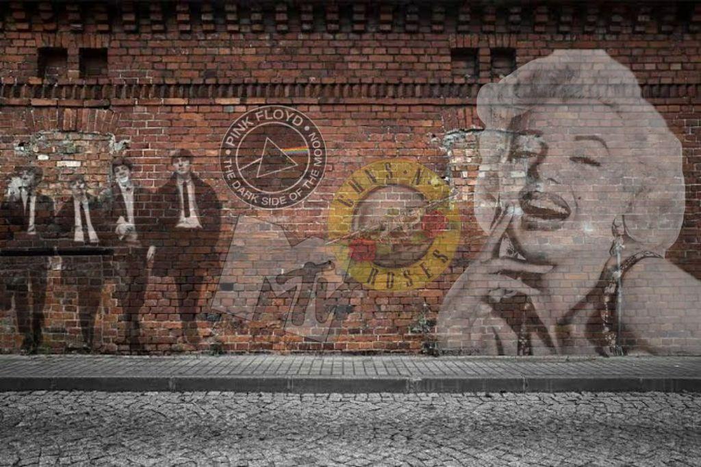 graffiti Wall alleyway.