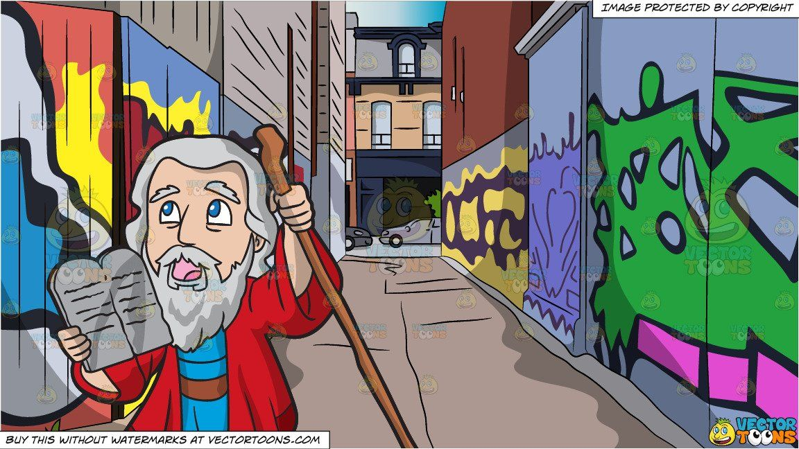 clipart #cartoon Moses Holding The Ten Commandments and.