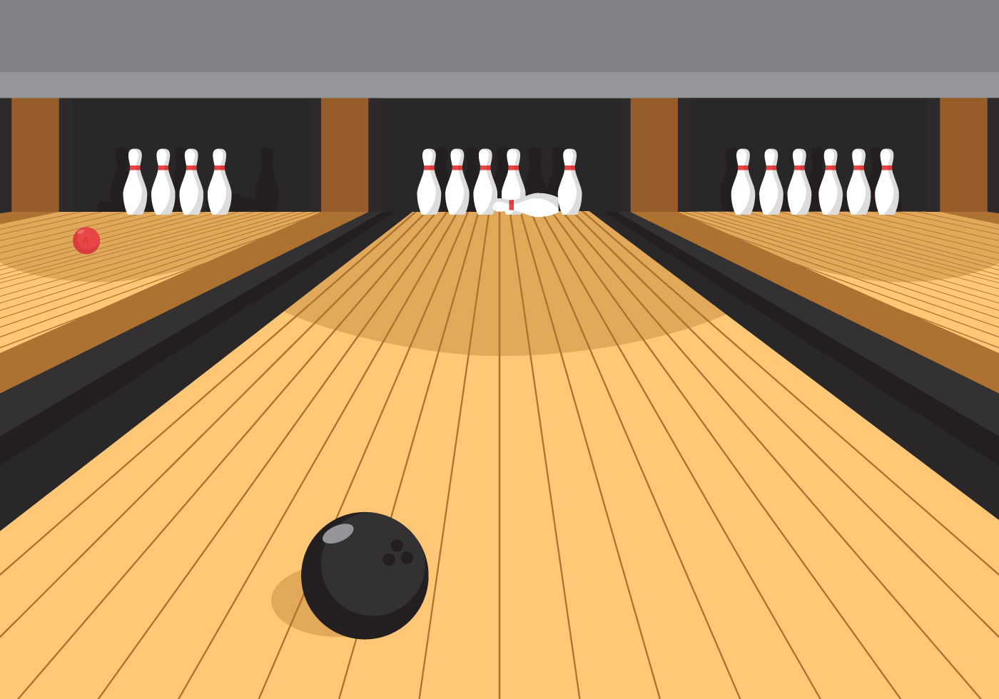 Bowling alley lane clipart.