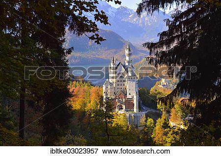 """Picture of """"Schloss Neuschwanstein castle, Allgau, Schwangau."""