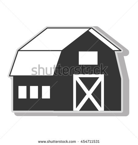 Black And White Ranch House Landscape Stock Photos, Royalty.