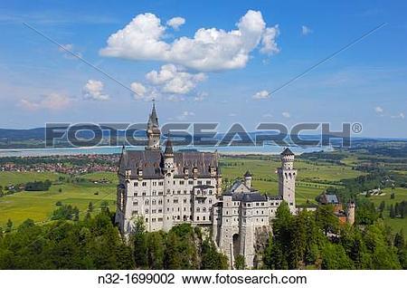 Stock Photo of Neuschwanstein Castle (Schloss Neuschwanstein.