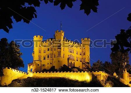 Picture of Hohenschwangau Castle, Romantic Road, Romantische.