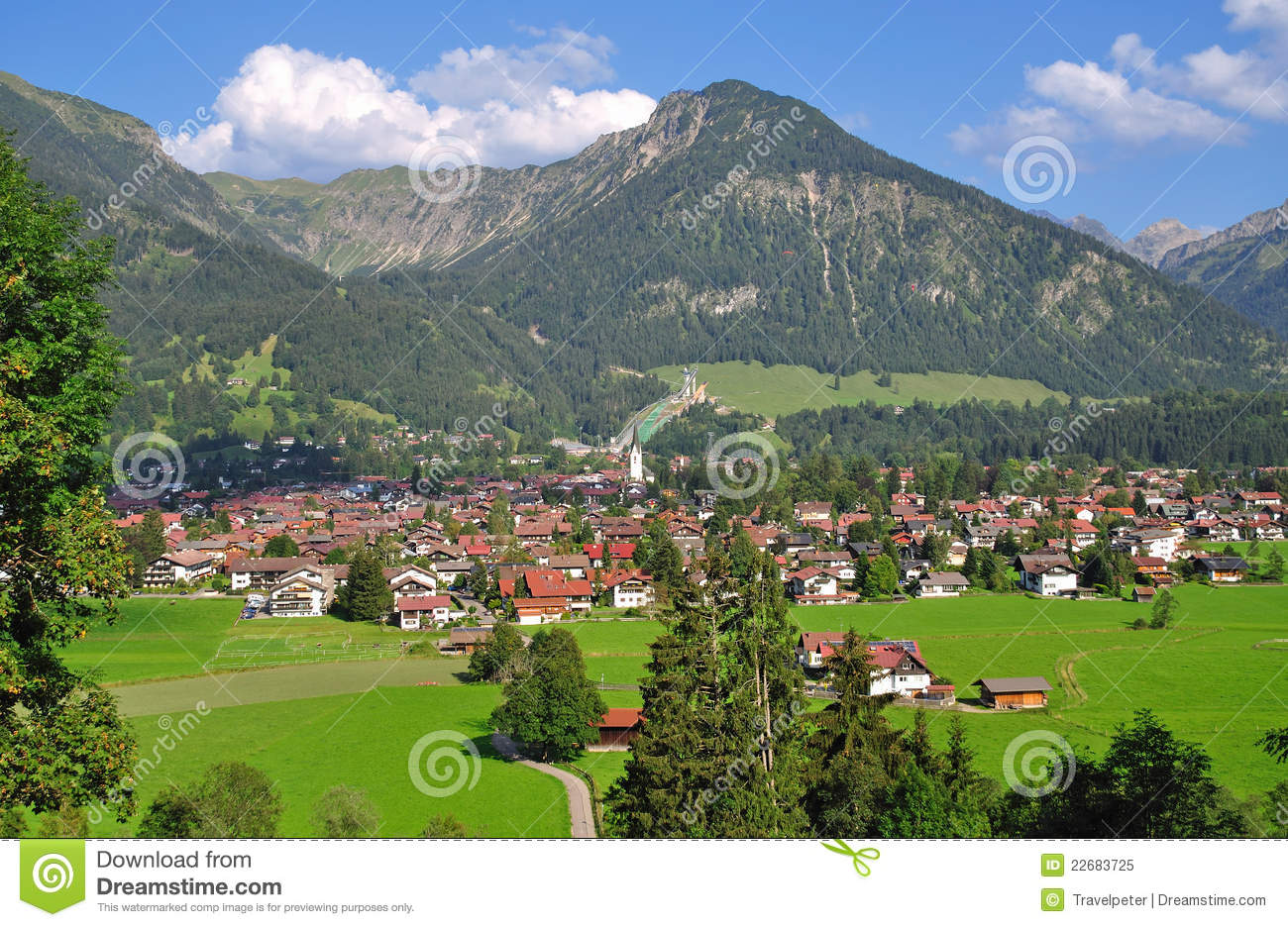 Oberstdorf,Allgaeu,Upper Bavaria,Germany Stock Image.