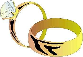 Clipart alliances mariage.