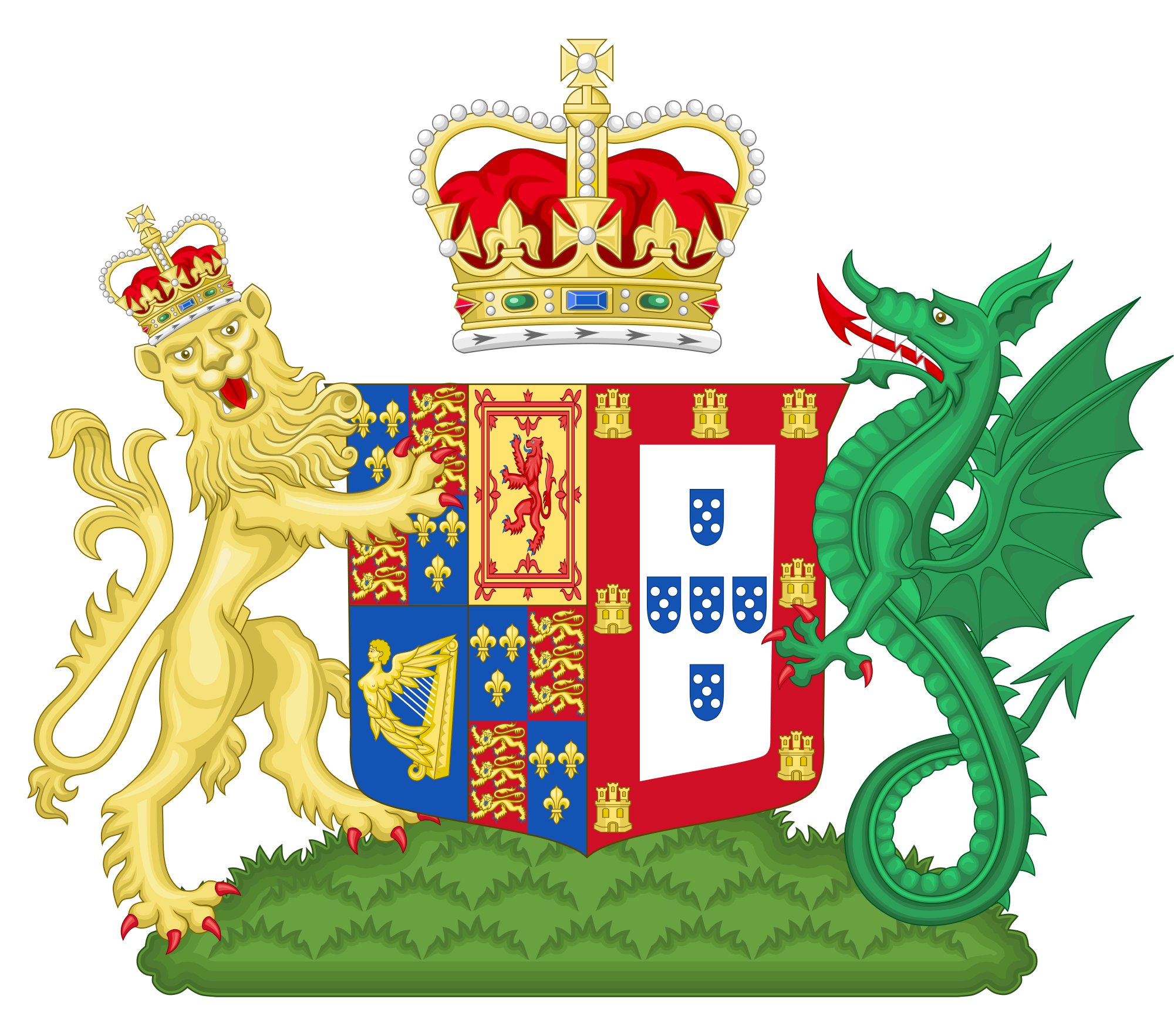 File:Coat of Arms of Catherine of Braganza.svg.