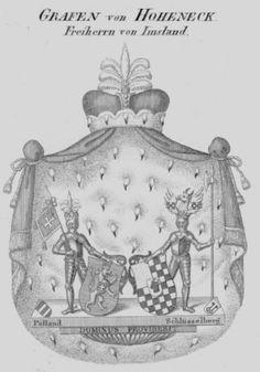 Allianzwappen von Prollius und von Bülow Alliance Coats of Arms.