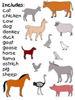 Farm Animal Clip Art.
