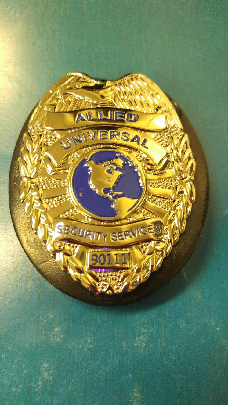 Here\'s my Current Badge #90111 with Allied Universal.