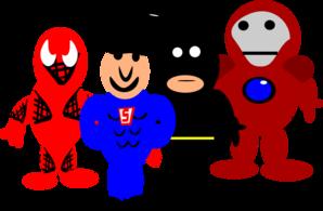 Super Hero Cartoons Clip Art at Clker.com.