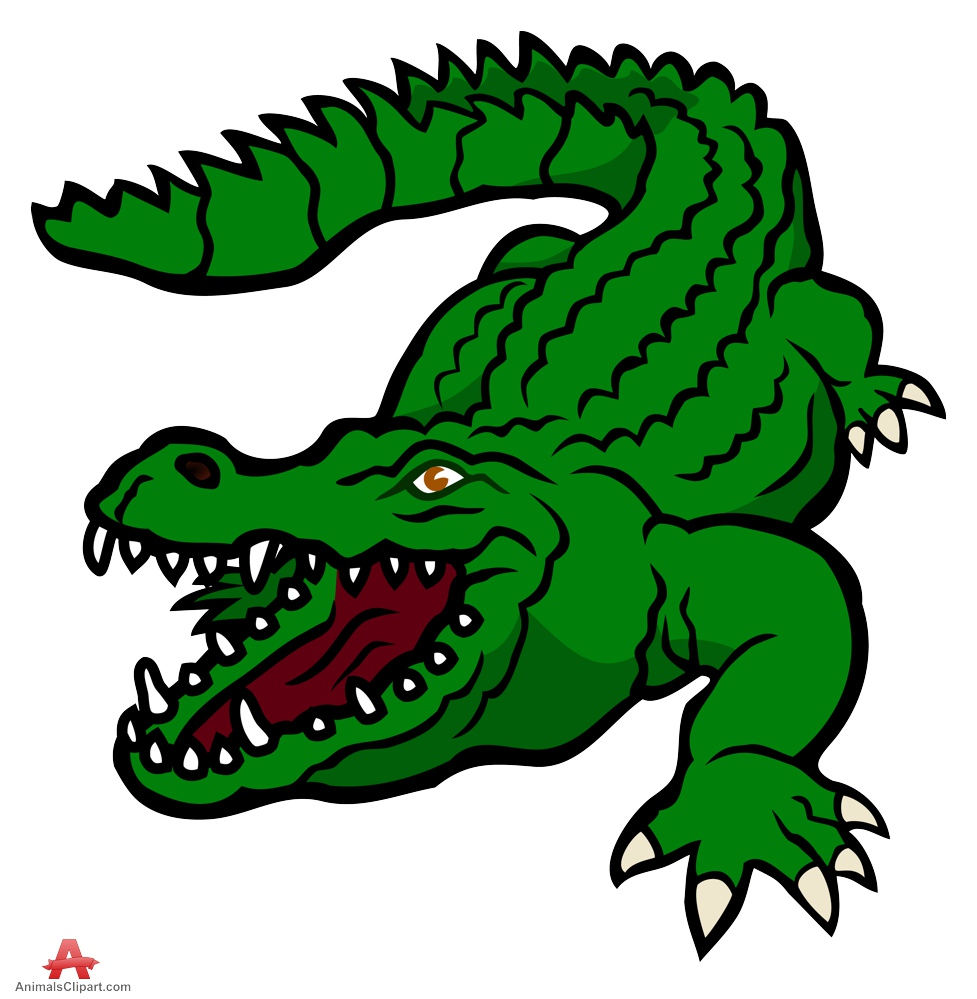 Crocodile animals clipart of alligator clipart with the.