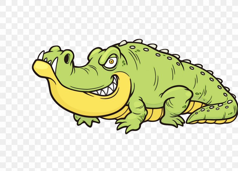 Alligators Crocodile Vector Graphics Drawing Illustration.