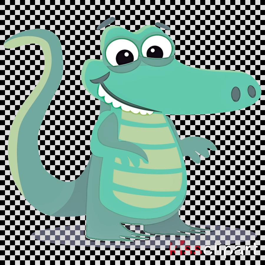cartoon green clip art animal figure crocodile clipart.