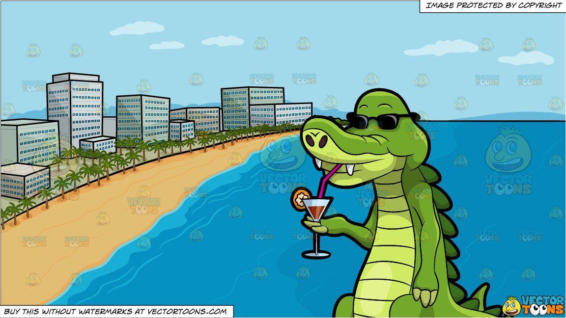 clipart #cartoon Arthur The Alligator Enjoying His Favorite.