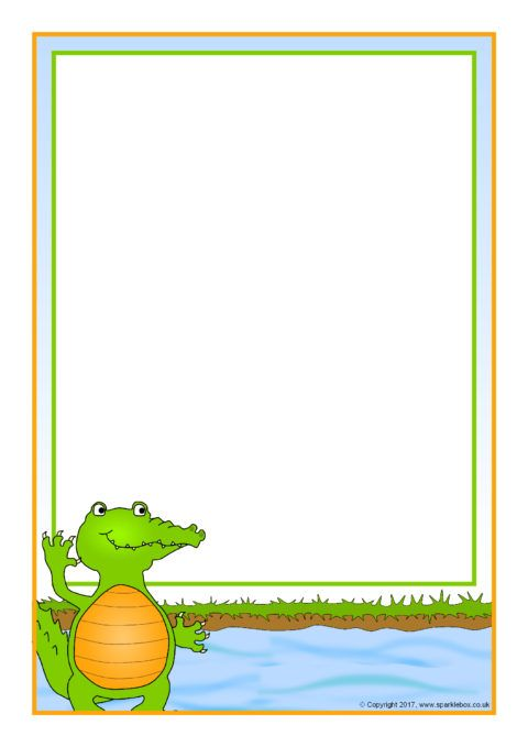 Crocodile A4 Page Borders (SB12320).