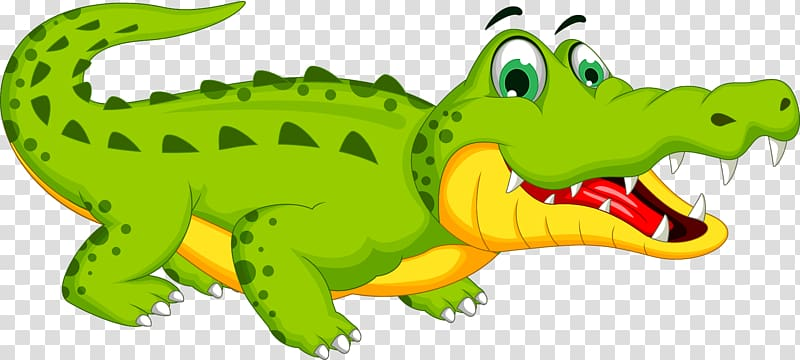 Alligator illustration, Crocodile Cartoon , cute crocodile.