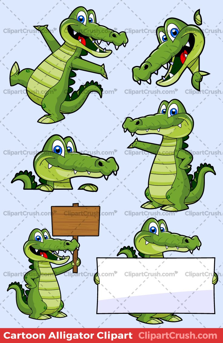 Alligator Clipart Pack.