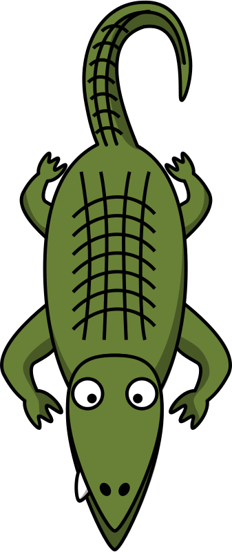 Free Clipart: Cartoon alligator.