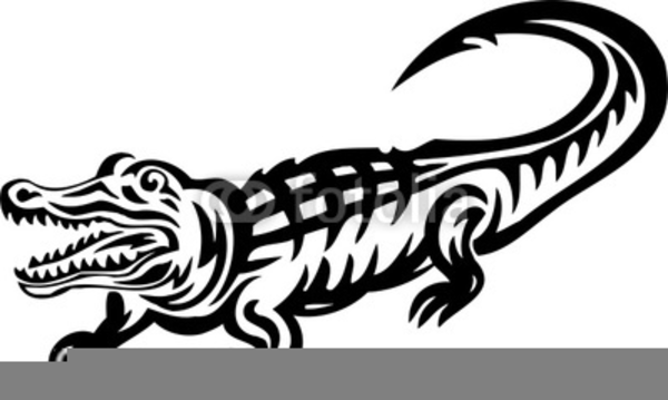 Free Alligator Clipart Black And White.