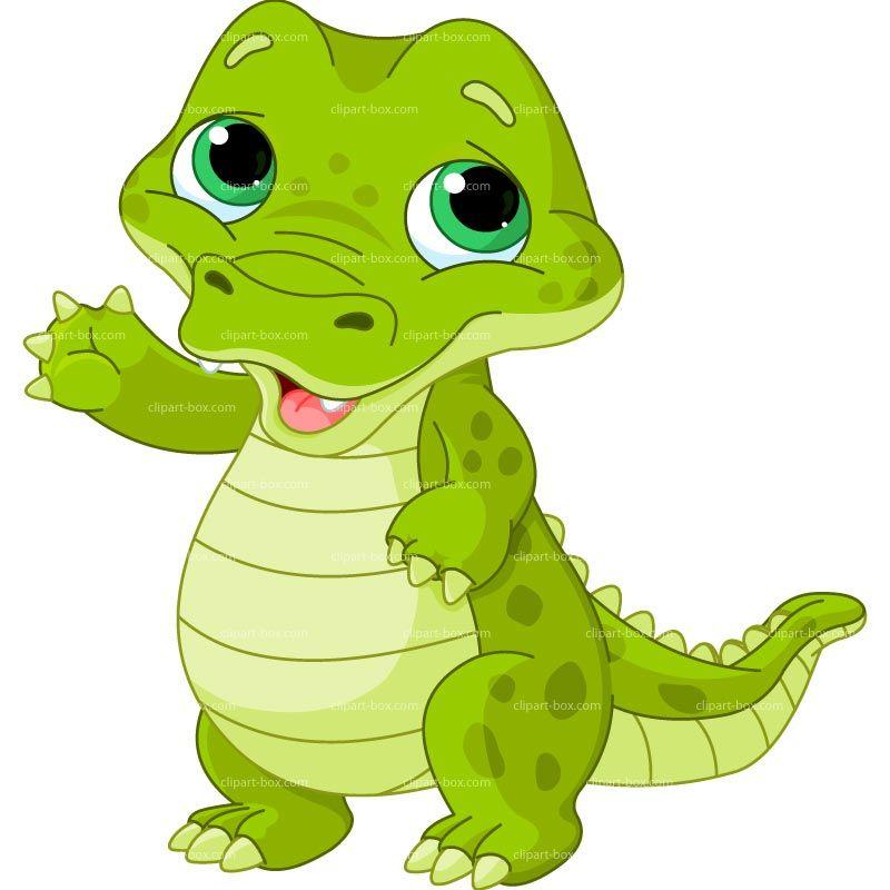 Baby Alligator Clipart.