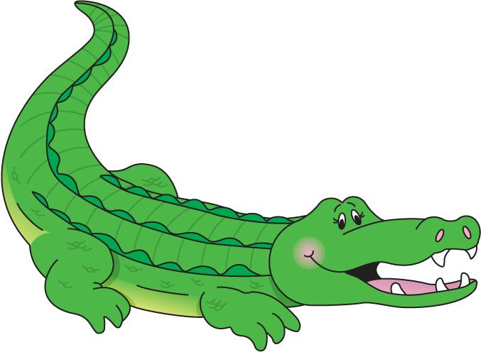 Cute Crocodile Clipart.