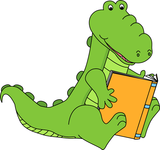 Alligator Reading a Book.