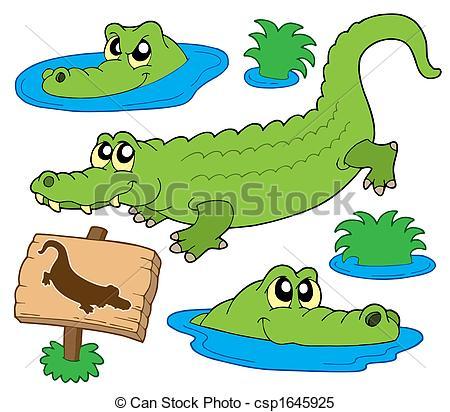 1429 Crocodile free clipart.