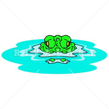 Pics For > Clipart Alligator In Water.