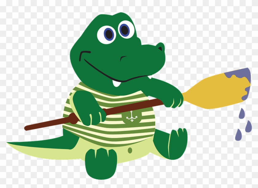 Crocodile, Alligator, The Sailor, Paddle, Oar, Water.