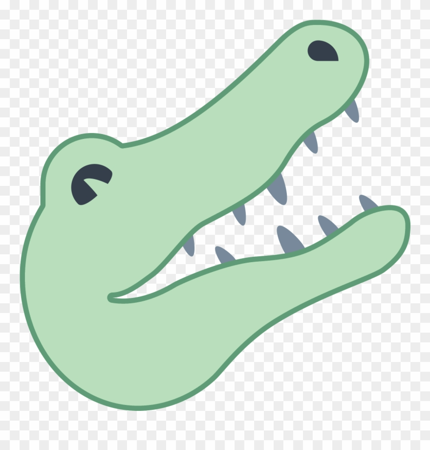 A Drawing Of A Alligator Head.