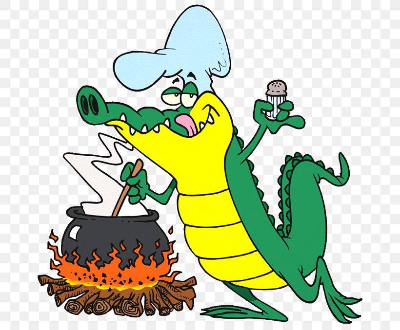 Cajun Cuisine Gumbo Barbecue Crocodile Cartoon, PNG.