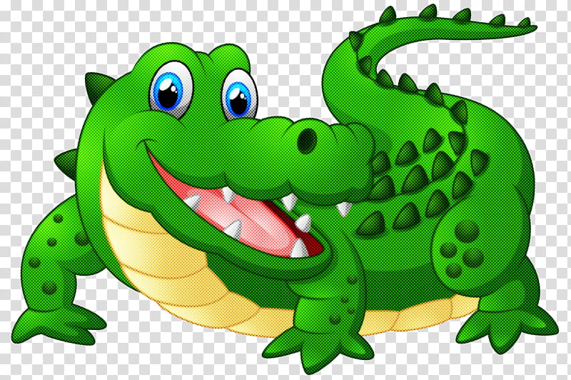 Crocodilia crocodile green alligator cartoon, Reptile, Nile.